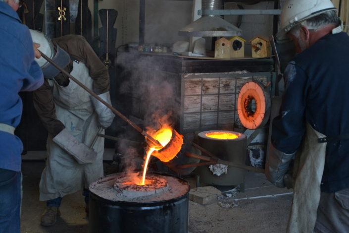 Stage de fonte de bronze selon la technique de la cire perdue